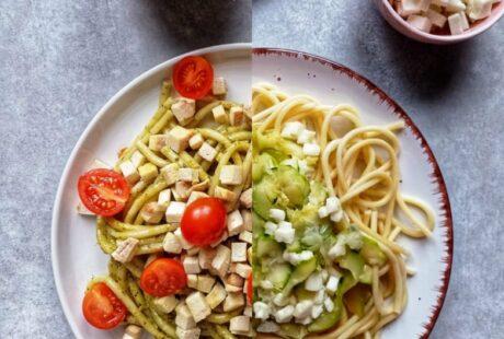 2 pomysły na szybki obiad z makaronem
